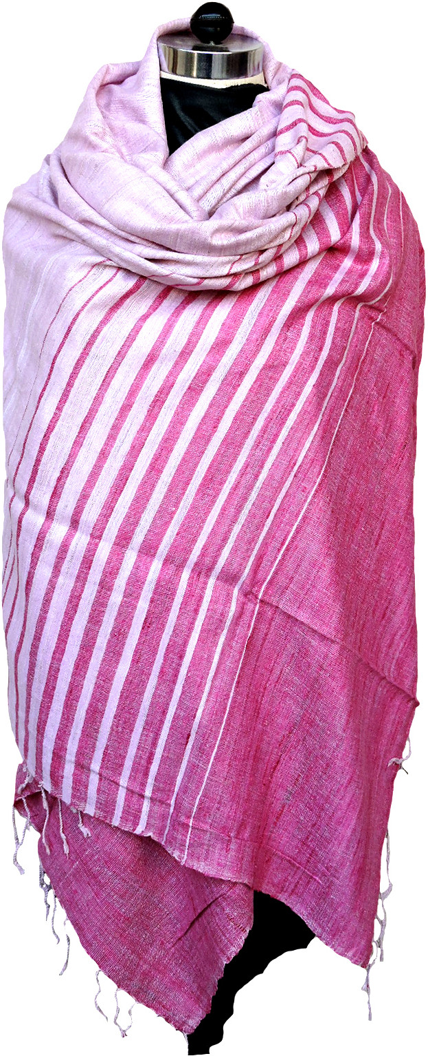 Tasar Silk Striped Womens Shawl