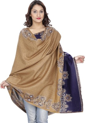 Indo Essence Wool Embroidered Women's Shawl