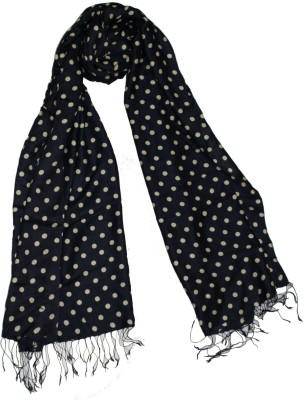 Shawls Of India Silk, Viscose Polka Print Women's Shawl