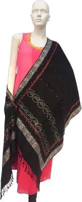 Jupi Pashmina, Wool, Viscose Embellished, Self Design Women's Shawl