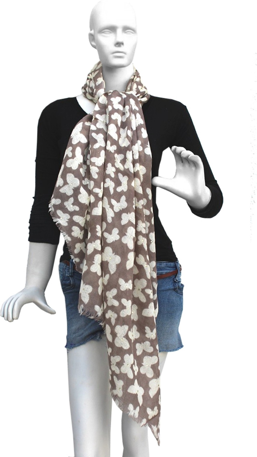 18Silk Stoles Wool Printed Womens Shawl