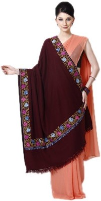 Rituall Wool Solid, Embroidered Women's Shawl