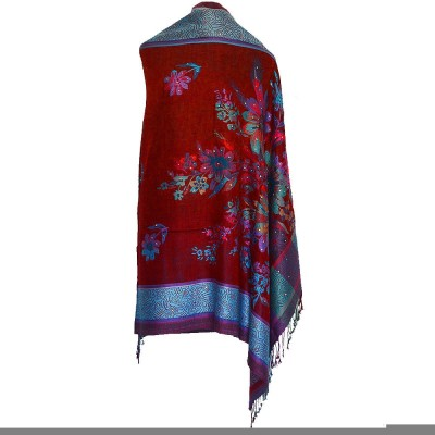 Wowdeal Wool Floral Print Women's Shawl