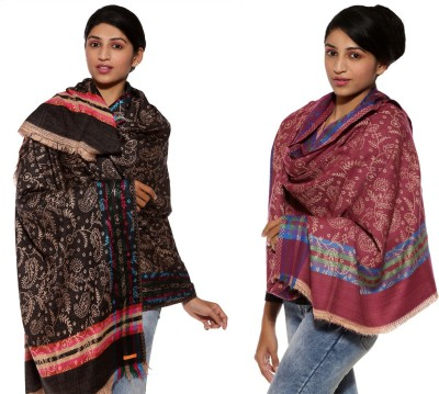 Covetindia Viscose Printed Women's Shawl