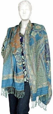 Little India Wool Floral Print Women's Shawl