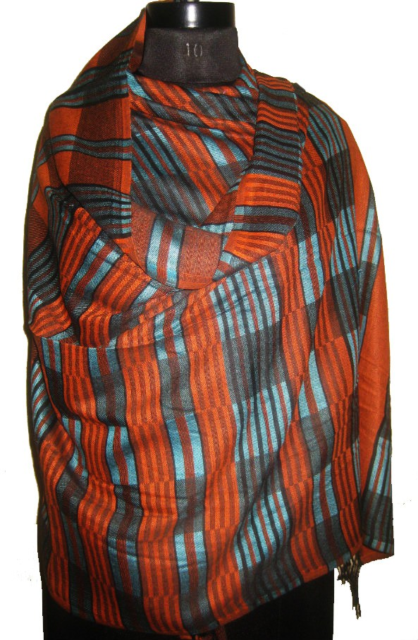Cloud9Emporio sat_stole8 Viscose Striped Womens Shawl