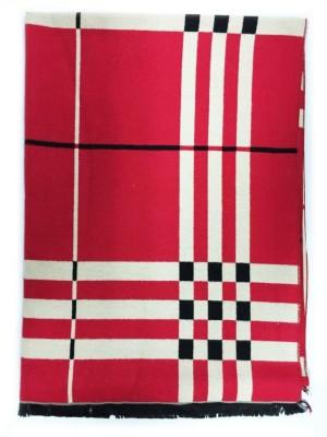 The Vatican Viscose Checkered Women's Shawl