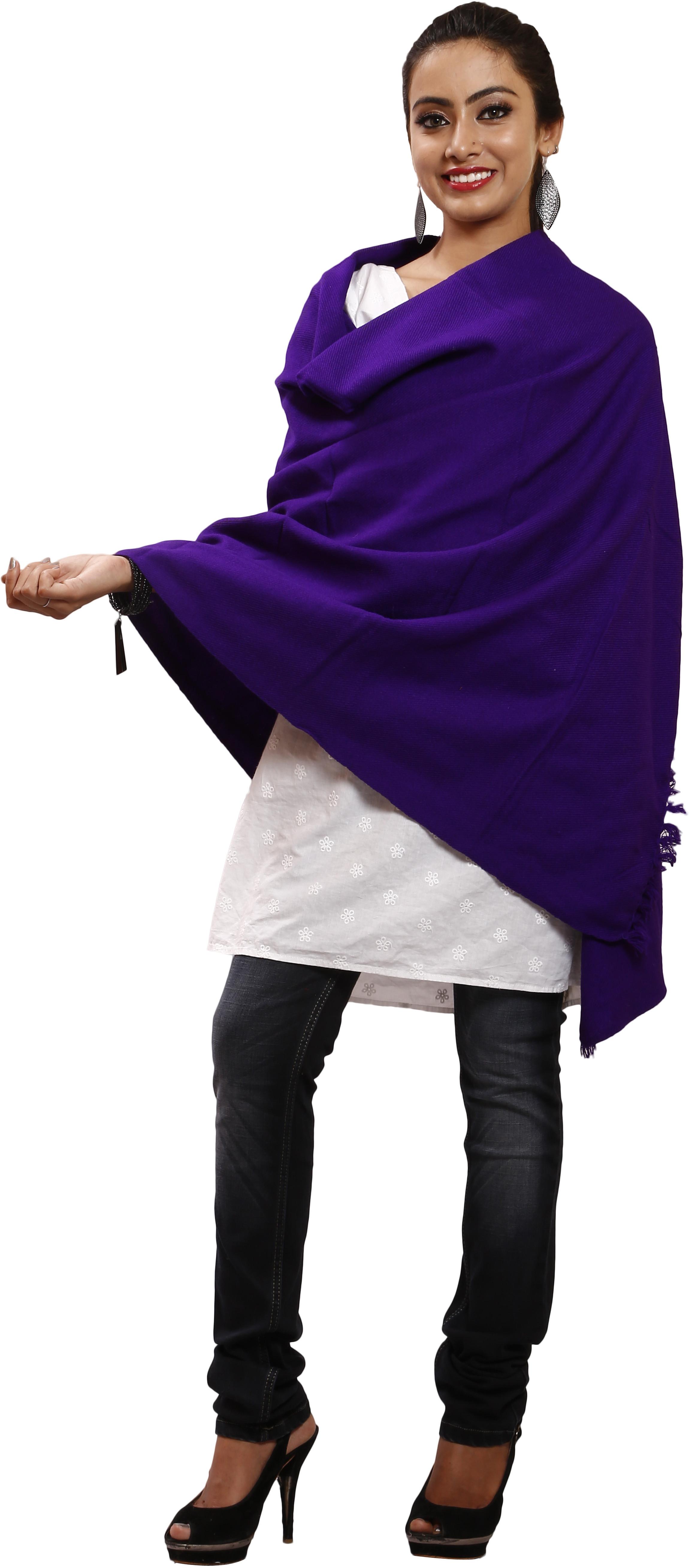 Glitz Wool Solid Womens Shawl