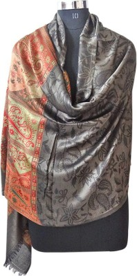 Forever 18 Polyester Wool Blend Embroidered Women's Shawl