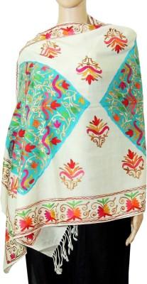 Indian Fashion Guru BO-44A-0004woolen shawl Wool Embroidered Women's Shawl