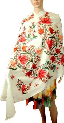 Indian Fashion Guru Floral Wool Embroidered Women's Shawl
