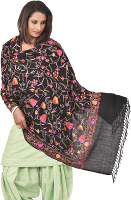 Weavers Villa Wool Embroidered Women's Shawl