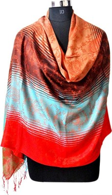 Forever 18 Polyester Wool Blend Printed Women's Shawl