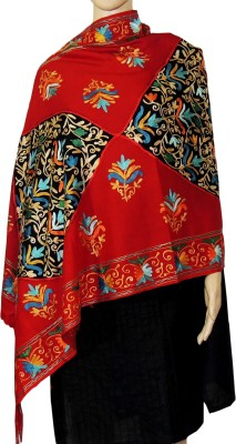 Indian Fashion Guru BO-44A-0016woolen shawl Wool Embroidered Women's Shawl