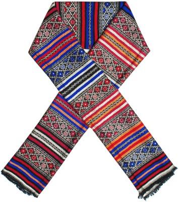 Excel Bazaar Wool Striped, Floral Print Women's Shawl