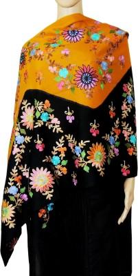 Indian Fashion Guru BO-44A-0011woolen shawl Wool Embroidered Women's Shawl