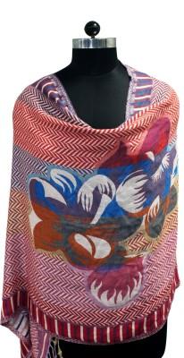 Belleziya Viscose Geometric Print Women's Shawl