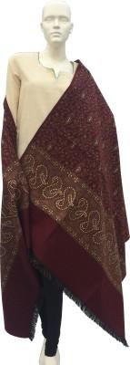 Jupi Pashmina, Wool Embellished, Self Design Women's Shawl