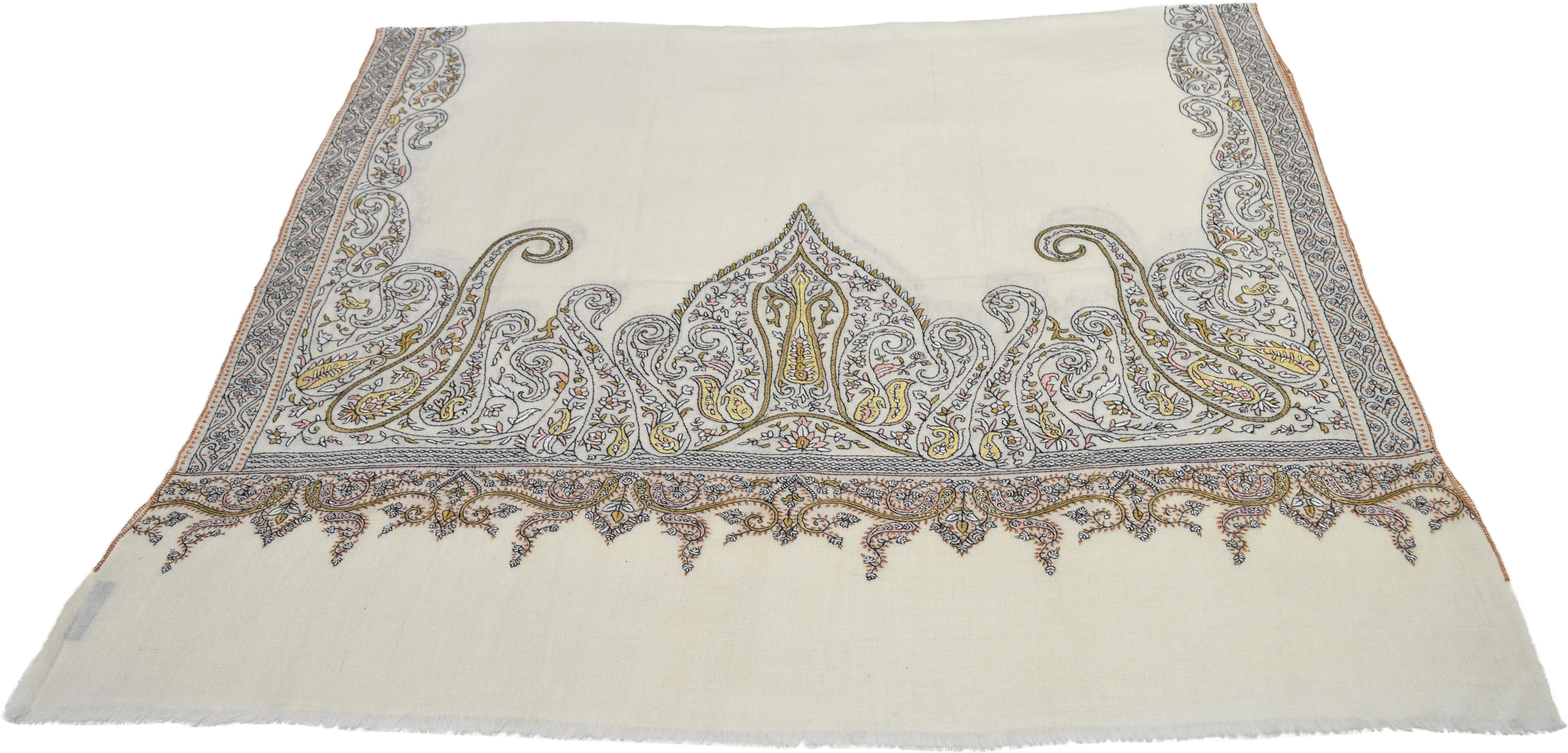 Sofias Pashmina Embroidered Womens Shawl