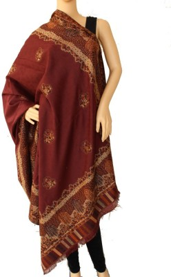 Matelco Polyester, Acrylic Embroidered Women's Shawl