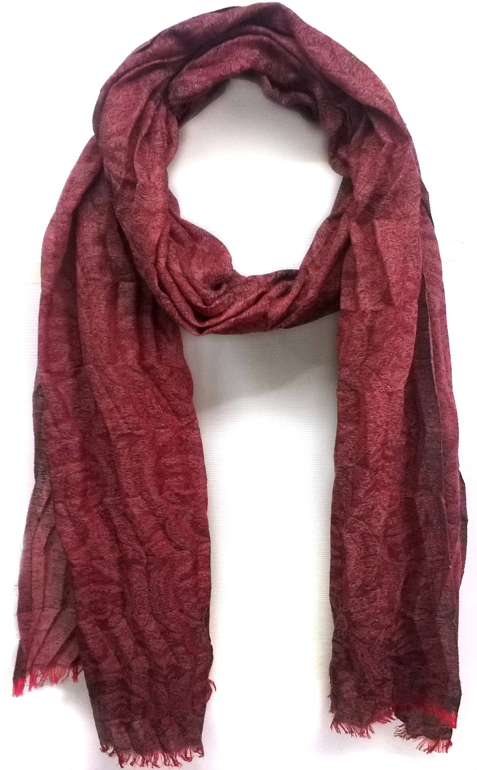 ScarfKing Polyester Self Design Womens Shawl