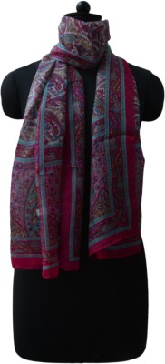 Vedic Deals Silk Floral Print Women's Shawl