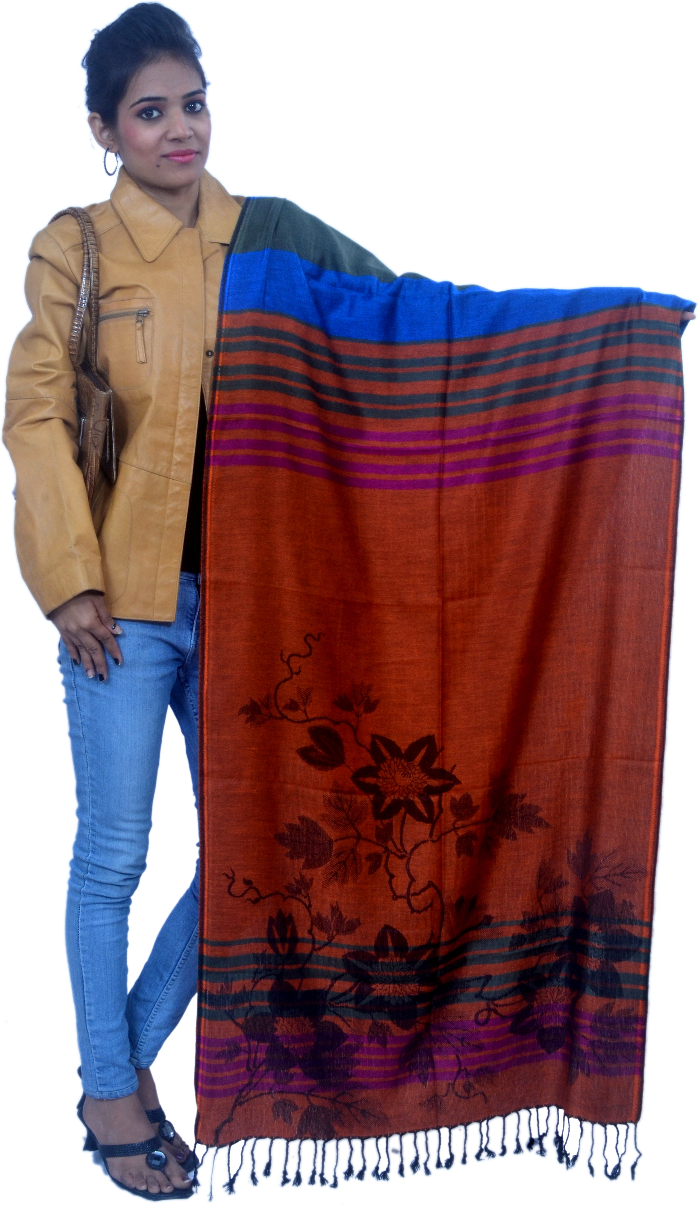 Cloud9Emporio Sat00015 Viscose Floral Print Womens Shawl