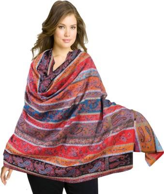 Super Drool Wool Striped Women's Shawl