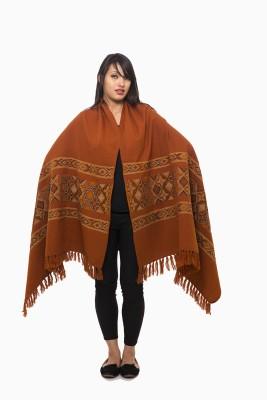 Fashion Cult Wool Geometric Print Women,s Shawl
