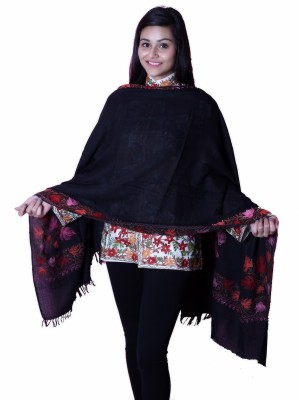 Inara Robes Wool Embroidered Women's Shawl
