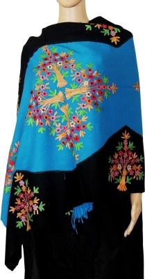 Indian Fashion Guru BO-44A-0005woolen shawl Wool Embroidered Women's Shawl