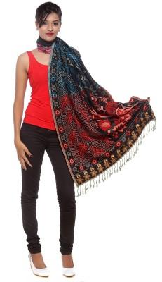 Covetindia Wool Floral Print Women's Shawl