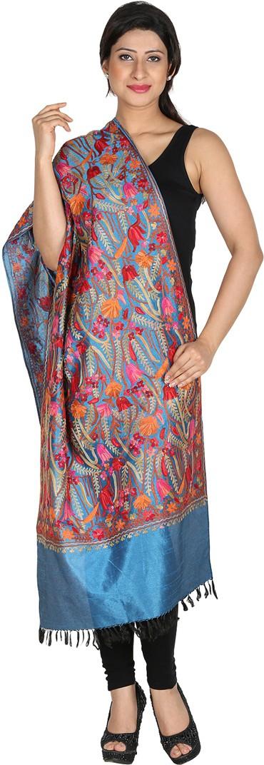 Inara Robes Premium Silk Embroidered Womens Shawl