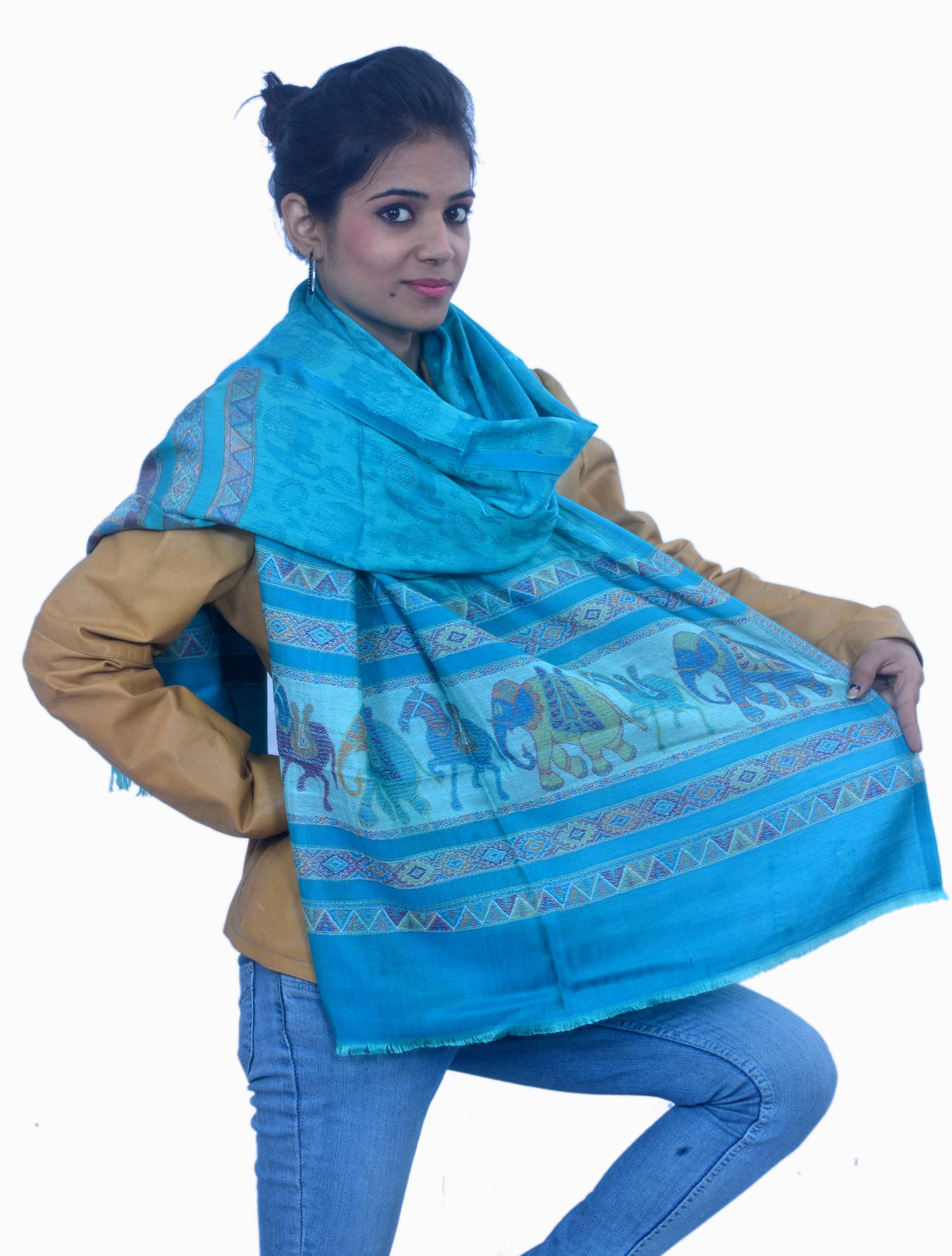 Cloud9Emporio sat00017 Viscose Graphic Print Womens Shawl