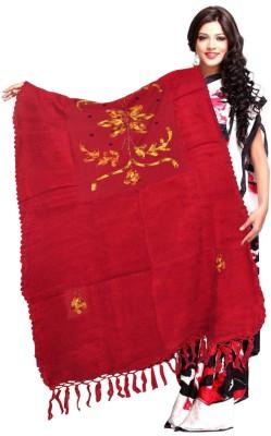 Excel Bazaar Wool Solid, Floral Print Women's Shawl