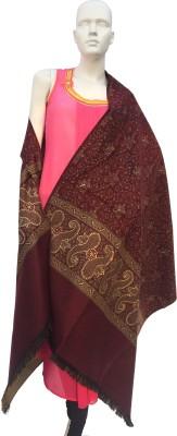 Jupi Pashmina, Wool Embellished, Floral Print, Self Design Women's Shawl