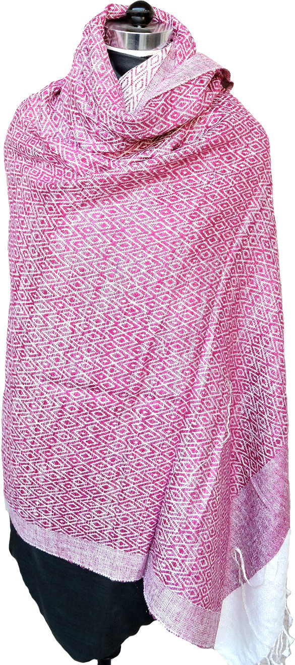Tasar Silk Solid Womens Shawl