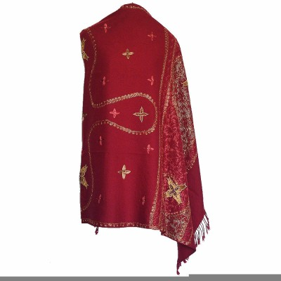Wowdeal Wool Embroidered Women's Shawl