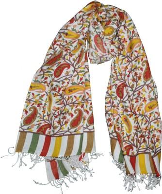 Shawls Of India Wool, Viscose Paisley Women's Shawl