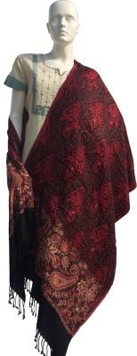 Jupi Wool, Pashmina, Viscose Embellished, Floral Print, Self Design Women's Shawl