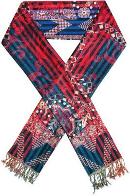 Excel Bazaar Wool Striped, Checkered, Floral Print Women's Shawl