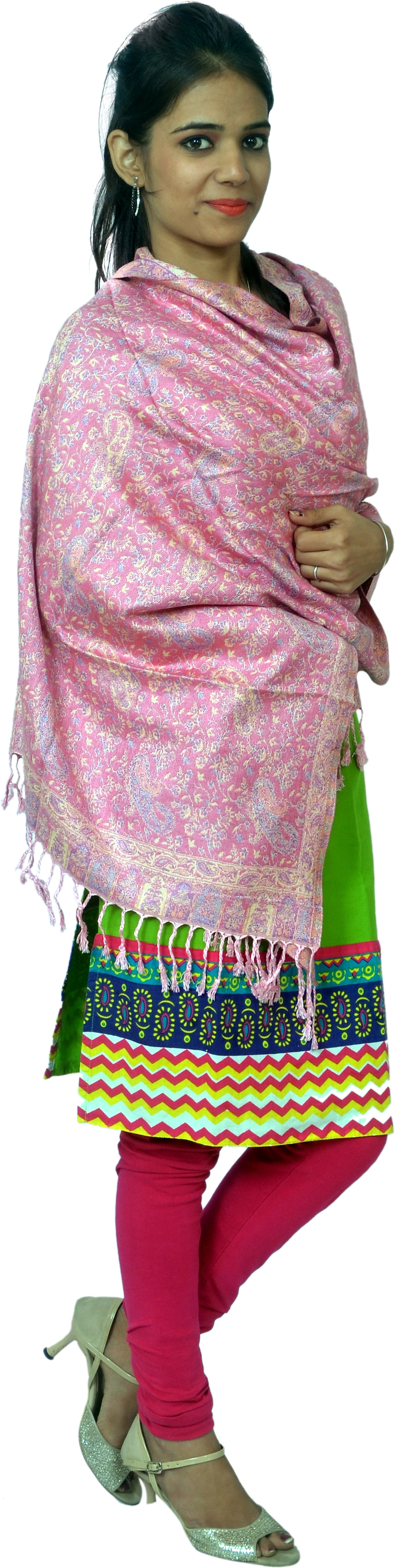 Cloud9Emporio Sat0057 Viscose Floral Print Womens Shawl