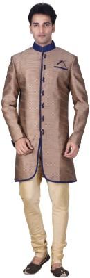Jamaibabu Self Design Sherwani