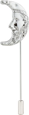 Knighthood Silver Moon Stainless Steel Sliding Pin Shirt Stud