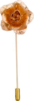 Avaron Projekt Handmade Golden Flower Stainless Steel Sliding Pin Shirt Stud
