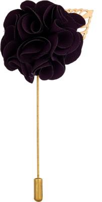 Avaron Projekt Handmade Dark Purple Bunch Flower Stainless Steel Sliding Pin Shirt Stud
