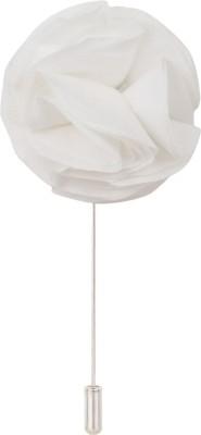 Eccellente LPLFLWR3WHT Cotton Sliding Pin Shirt Stud