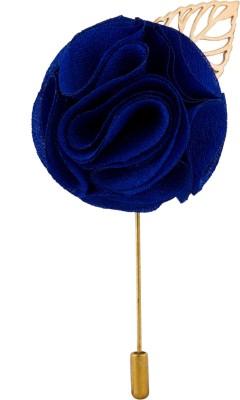 Avaron Projekt Handmade Royal Blue Flower Stainless Steel Sliding Pin Shirt Stud