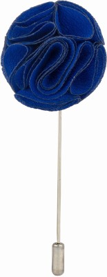 Knighthood Royal Blue Bunch Flower Stainless Steel Sliding Pin Shirt Stud