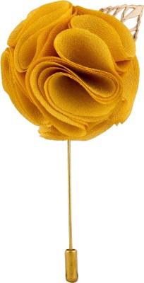 Avaron Projekt Handmade Yellow Flower Stainless Steel Sliding Pin Shirt Stud